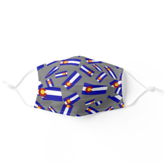 Colorado Flag | Clustered Pattern Adult Cloth Adult Cloth Face Mask