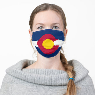 Colorado Flag The Centennial State Adult Cloth Face Mask