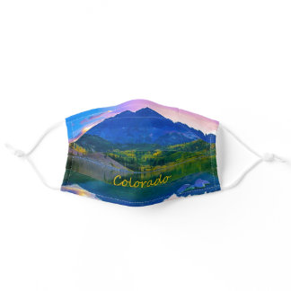 Colorado Rocky Mountains and Lake Adult Cloth Face Mask