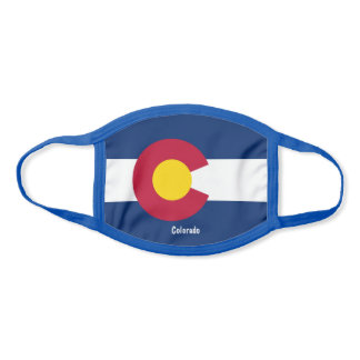 Colorado Sate Flag Comfortable Ear Loops Face Mask
