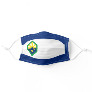 Colorado Springs, Colorado City Flag Adult Cloth Face Mask