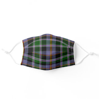 Colorado State Clan Tartan Plaid Pattern Adult Cloth Face Mask