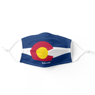 Colorado State Flag Personalize Text Adult Cloth Face Mask