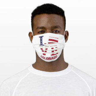Colorado USA state love Adult Cloth Face Mask