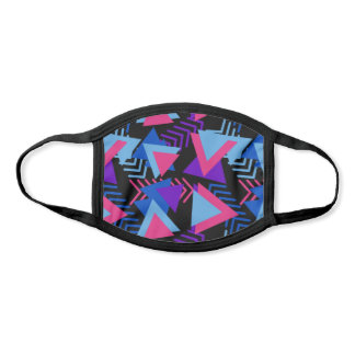 Colorful 80's Style Geometric Pattern | Custom Face Mask