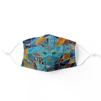 Colorful Abstract Elephant composition Adult Cloth Face Mask