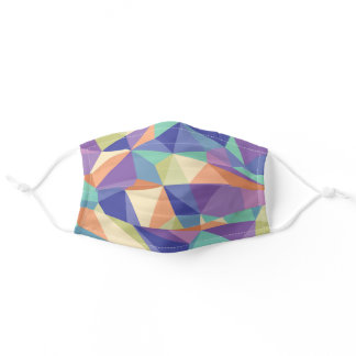 Colorful Abstract Geometric Kaleidoscope Pattern Adult Cloth Face Mask