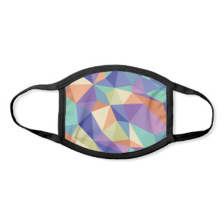 Colorful Abstract Geometric Kaleidoscope Pattern Face Mask