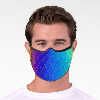 Colorful Abstract Geometric Pattern Premium Face Mask