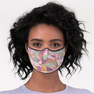 Colorful Abstract Shapes in Earth Tones Premium Face Mask