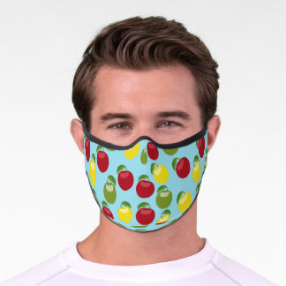 Colorful Apples Pattern Premium Face Mask