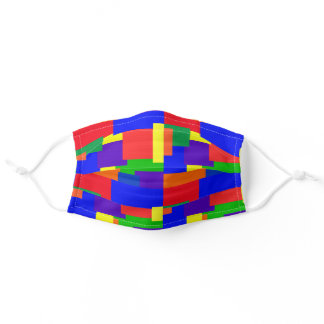 Colorful Asymmetrical Rainbow Abstract Pattern Adult Cloth Face Mask