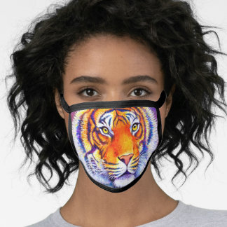 Colorful Bengal Tiger Face Mask