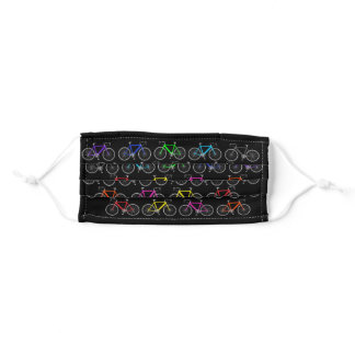 colorful bicycles adult cloth face mask