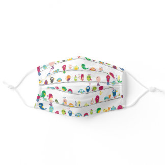 Colorful Birds on a Wire Adult Cloth Face Mask