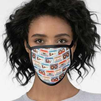 Colorful cassettes pattern  face mask