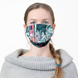 Colorful City of Tokyo Japan at Night Poster Adult Cloth Face Mask