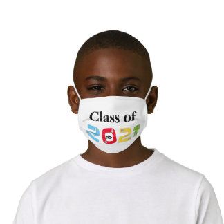 Colorful Class of 2021 with silver pins Kids' Cloth Face Mask