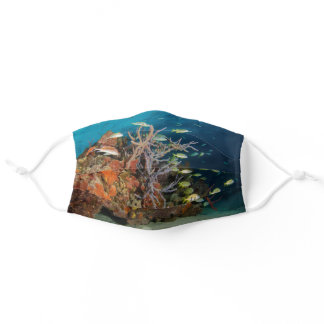 Colorful Coral Reef Face Mask