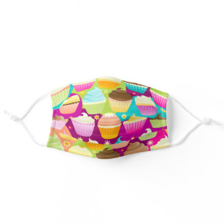 Colorful Cupcakes Adult Cloth Face Mask