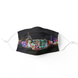 Colorful Curacao Neon Nights Adult Cloth Face Mask