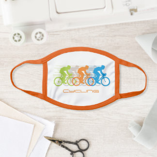 Colorful Cycling Design Face Mask