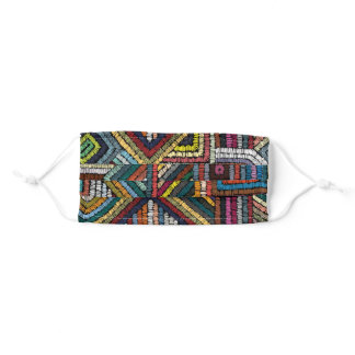Colorful ethnic embroidery design adult cloth face mask