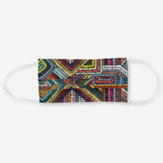Colorful ethnic embroidery design cloth face mask