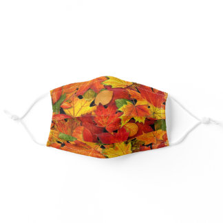 Colorful Fall Leaves Comfortable Fabric Women's Adult Cloth Face Mask