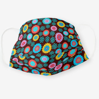 Colorful Flower Pattern Cloth Face Mask