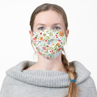 Colorful Flowers Adult Cloth Face Mask