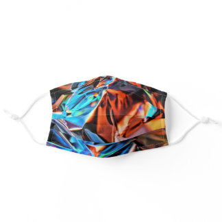Colorful Foil Wrapping Adult Cloth Face Mask