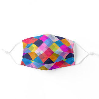 Colorful Geometric Print Disposable Face Mask