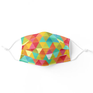 Colorful Harlequin Triangles Adult Cloth Face Mask