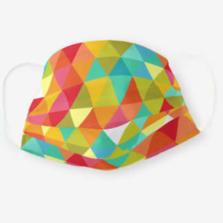 Colorful Harlequin Triangles Cloth Face Mask