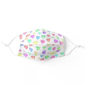 Colorful Hearts Face Mask