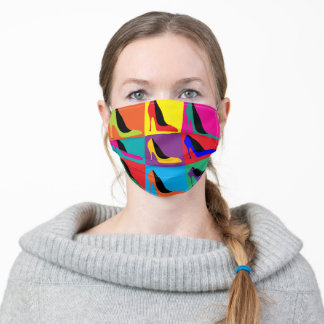 Colorful High Heels Adult Cloth Face Mask