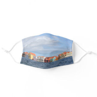 Colorful Houses of Willemstad, Curacao Adult Cloth Face Mask