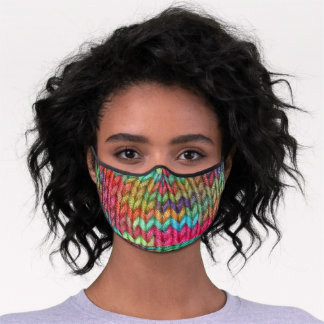 Colorful Knitting Premium Face Mask