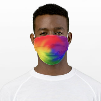 Colorful LGBT Rainbow Colors Abstract Art Pride Adult Cloth Face Mask