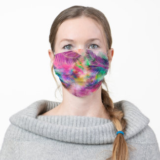 Colorful Multicolor Tropical Palm Leaves Adult Cloth Face Mask
