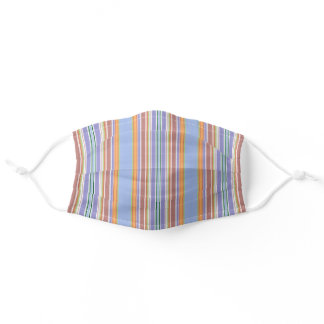 Colorful Multicolored Striped Pattern Adult Cloth Face Mask