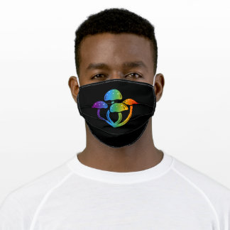 Colorful Mushroom for Rainbow Day Adult Cloth Face Mask