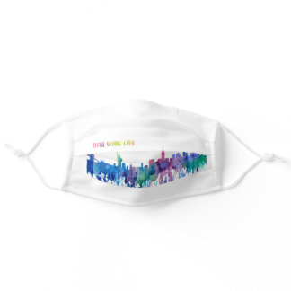 Colorful New York City Adult Cloth Face Mask