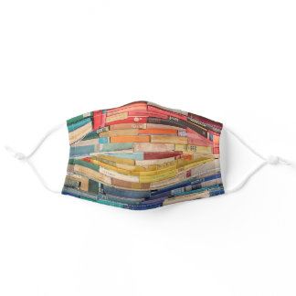 Colorful Old Books Adult Cloth Face Mask
