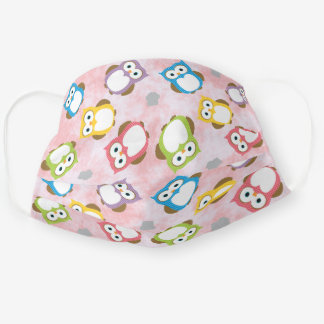 Colorful Owls Adult Cloth Face Mask