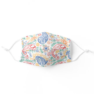 Colorful Paisley Floral Art Pattern Adult Cloth Face Mask