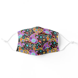 Colorful Paisley Modern Cowgirl Cowboy Western Adult Cloth Face Mask