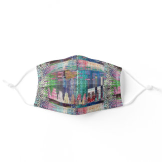 Colorful Patchwork Quilt Personal Protective Adult Cloth Face Mask