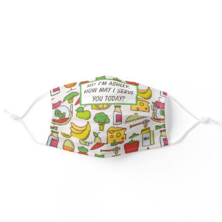 Colorful Pattern Food Service Industry Edition Adult Cloth Face Mask